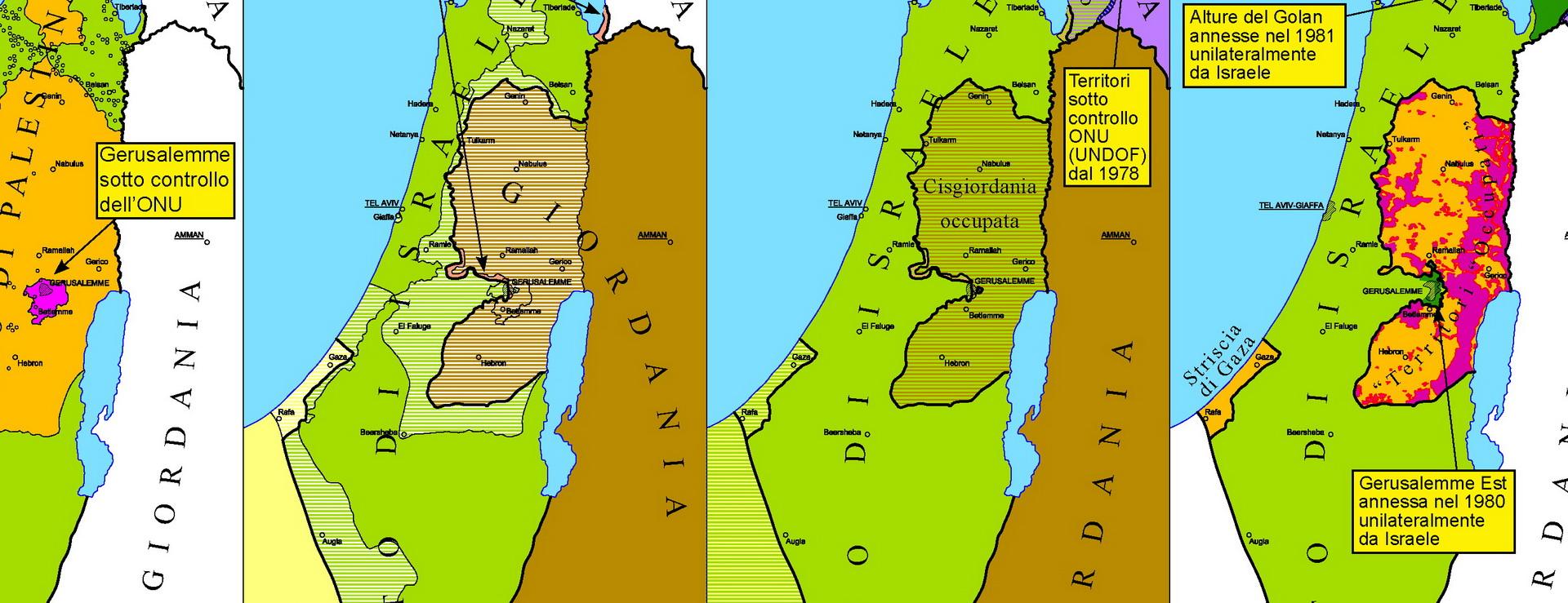 Israele Palestina Cartina.Israele Palestina Una Ferita Che Sanguina Da 100 Anni Nuova Storia